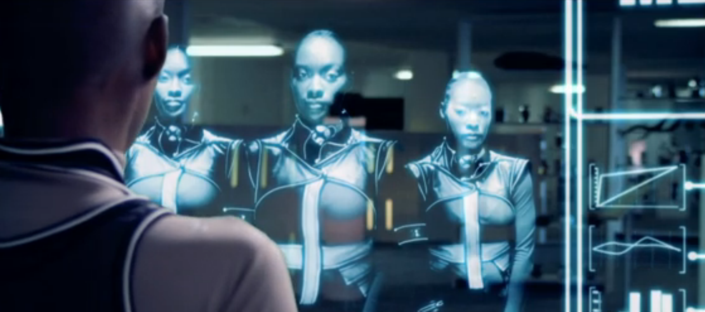 african science fiction film, pumzi, screenshot: asha in the lab