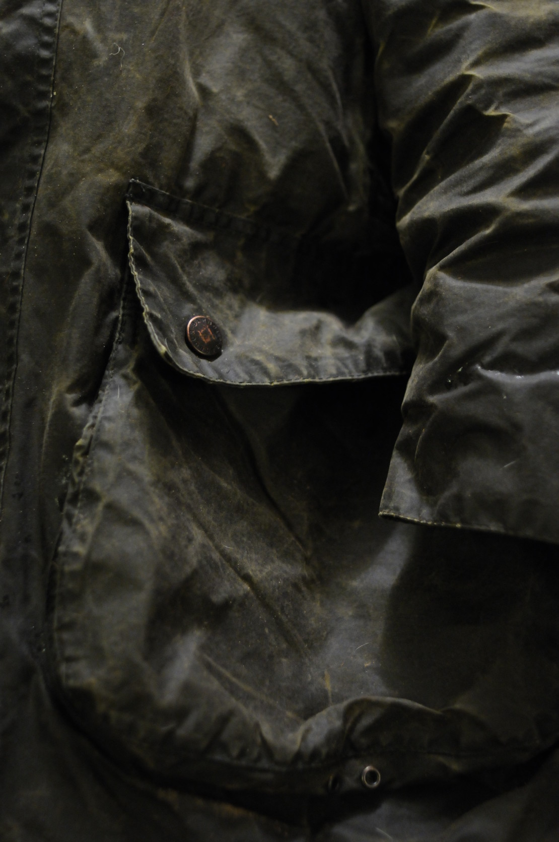 barbour style waxed cotton jacket