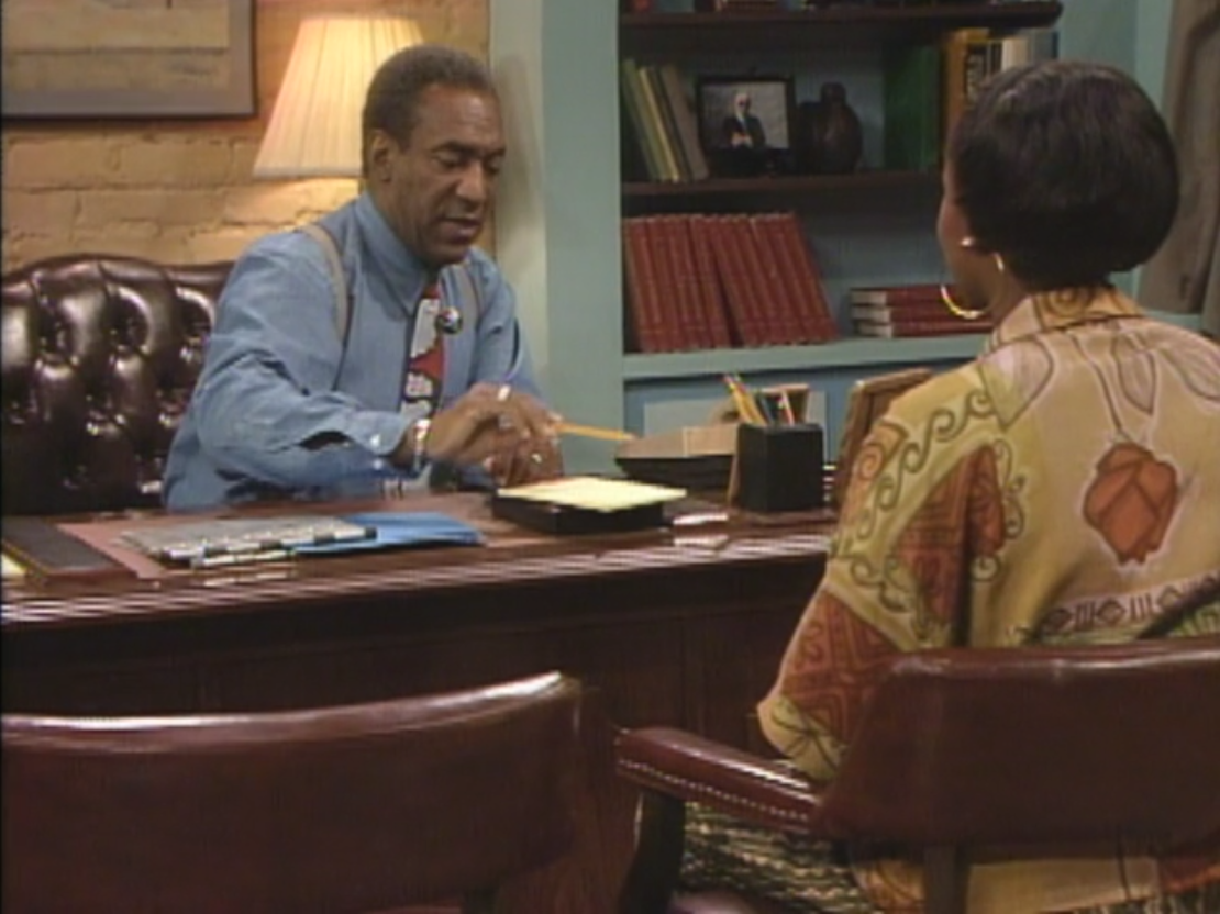 Cosby as Cliff Huxtable with Cousin Pam