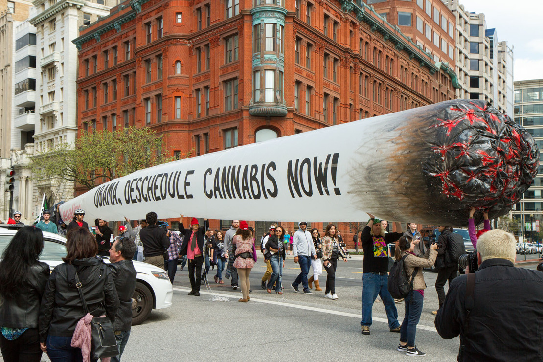 Giant Joint at a marijuana legalization demonstration